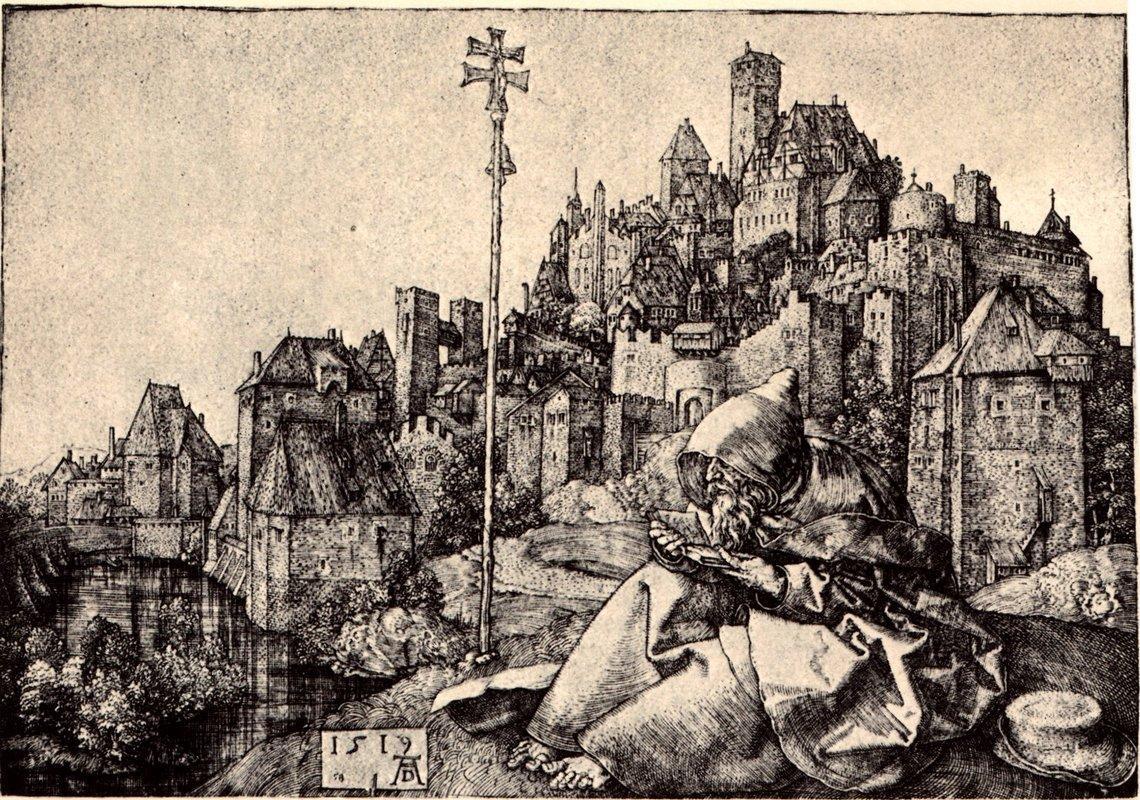 St Anthony at the City - Albrecht Durer