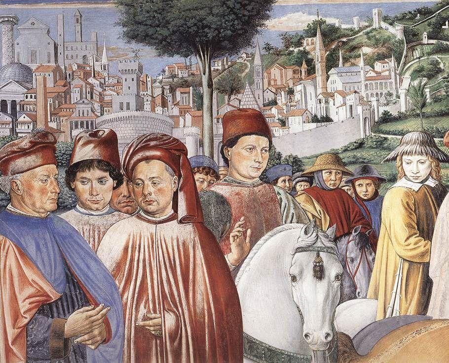 St. Augustine Departing for Milan (detail) - Benozzo Gozzoli