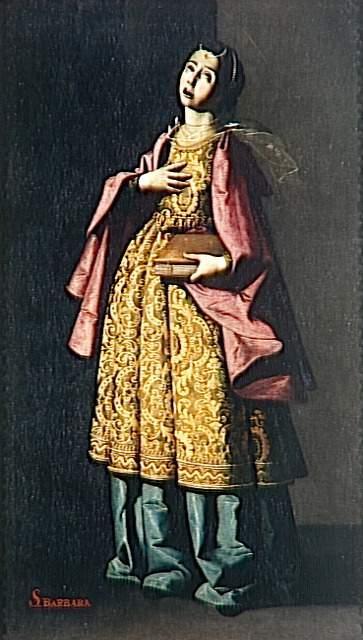 St. Barbe - Francisco de Zurbaran