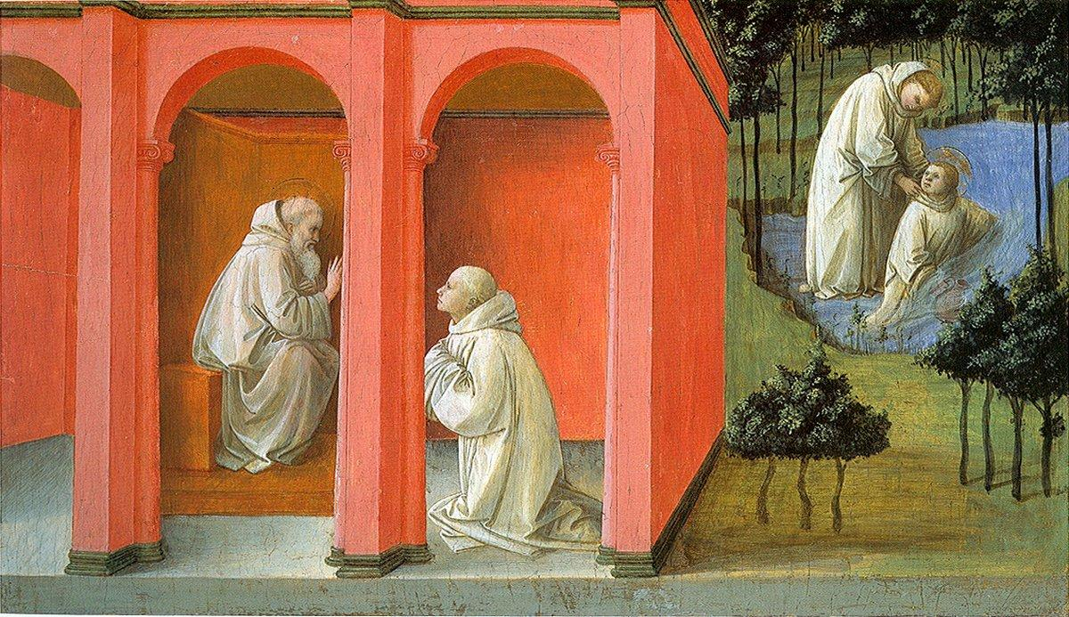 St. Benedict Orders St. Maurus to the Rescue of St. Placidus - Filippo Lippi