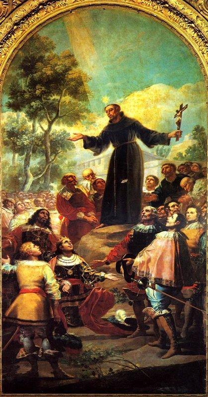 St. Bernardino of Siena preaching to Alfonso V of Aragon - Francisco Goya