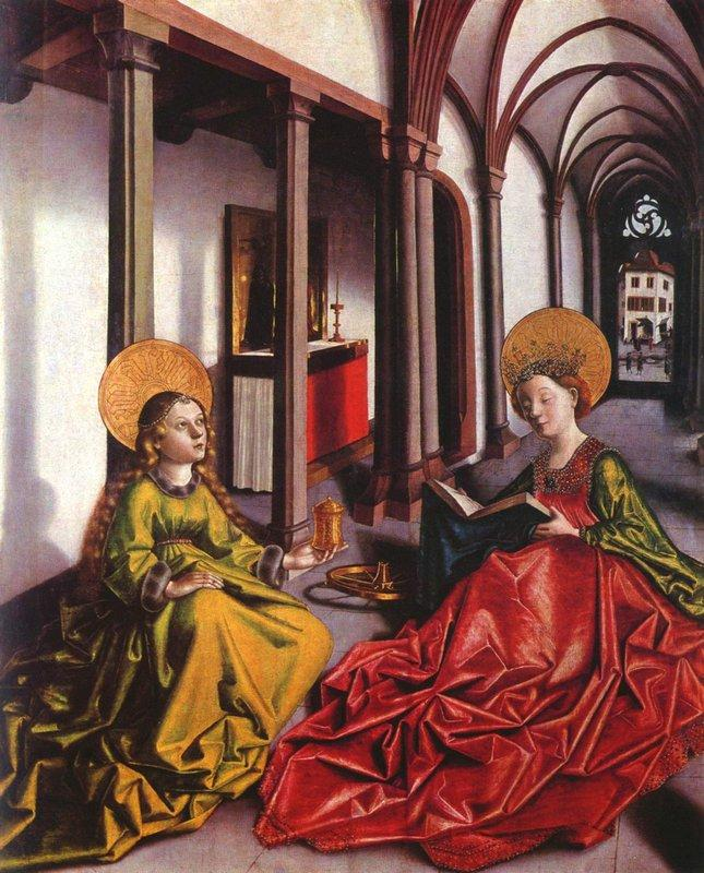 St. Catherine and Mary Magdalene - Konrad Witz