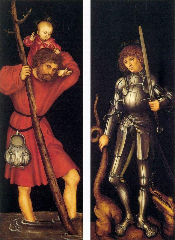 St. Christopher and St. George - Lucas Cranach the Elder
