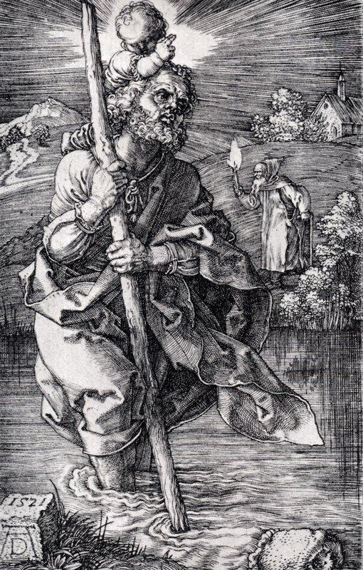 St. Christopher facing right - Albrecht Durer