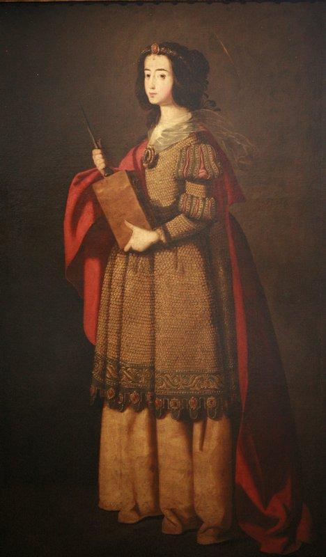 St. Engracia - Francisco de Zurbaran