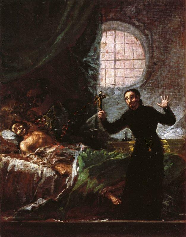 St. Francis Borgia Helping a Dying Impenitent - Francisco Goya