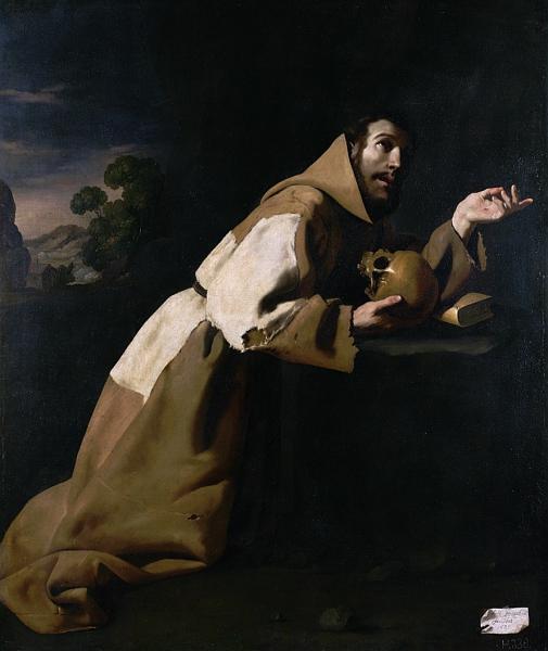 St. Francis in Meditation - Francisco de Zurbaran