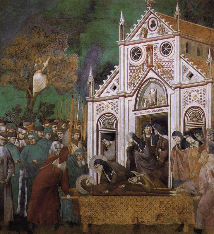 St. Francis Mourned by St. Clare - Giotto