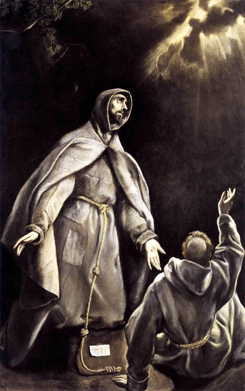 St Francis's vision of the flaming torch - El Greco