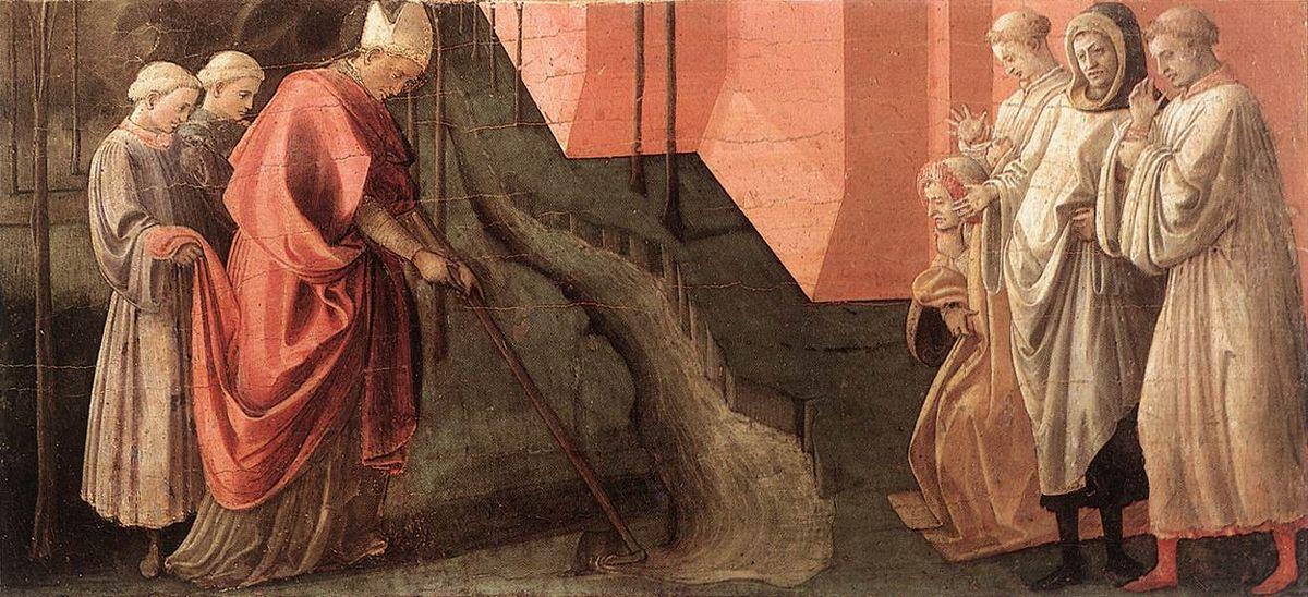 St. Fredianus Diverts the River Serchio - Filippo Lippi