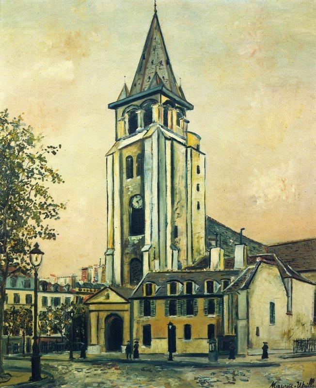 St. Germain Church - Maurice Utrillo