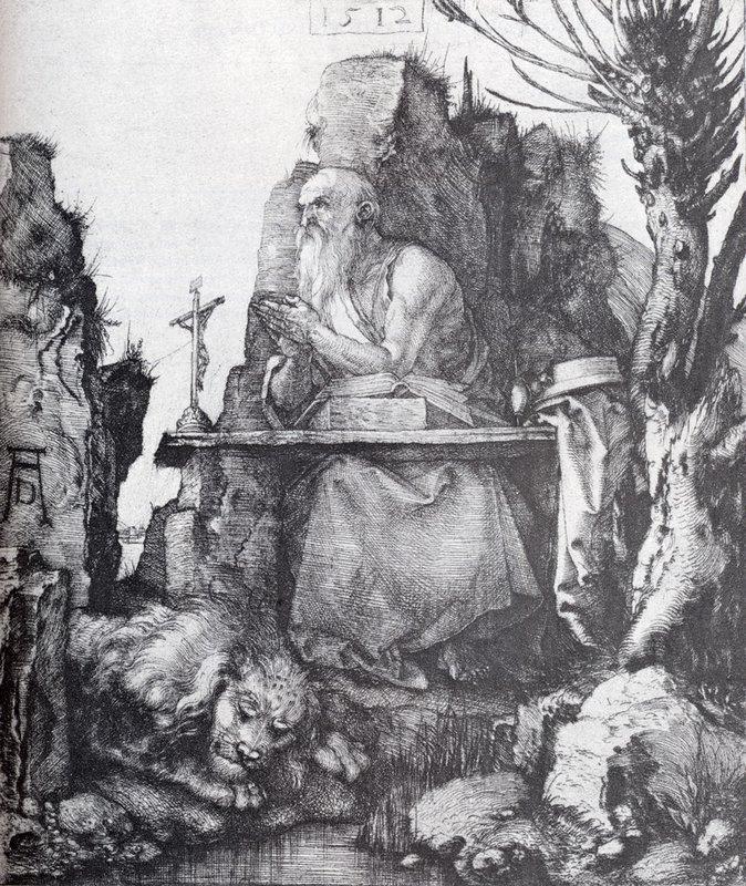 St. Jerome By The Pollard Willow - Albrecht Durer