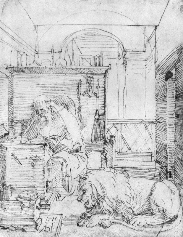 St. Jerome in His Study - Albrecht Durer
