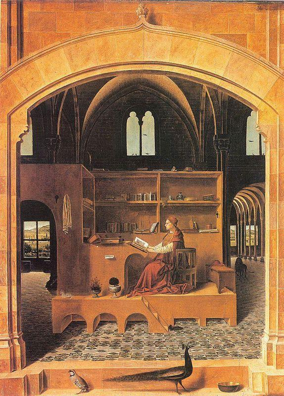 St. Jerome in His Study - Antonello da Messina