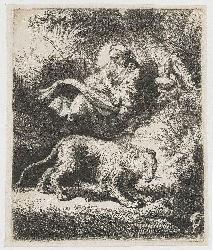 St. Jerome reading - Rembrandt