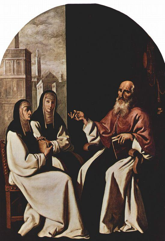 St. Jerome with St. Paula and St. Eustochium - Francisco de Zurbaran