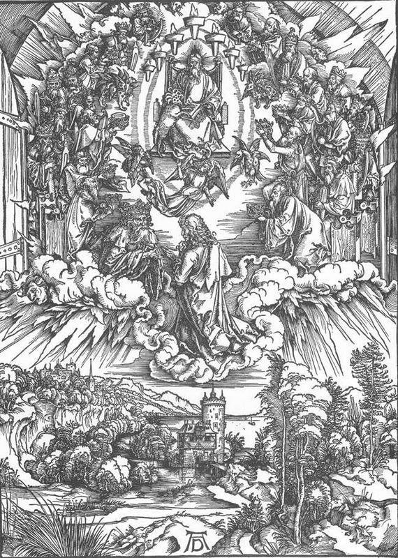 St John and the Twenty four Elders in Heaven - Albrecht Durer