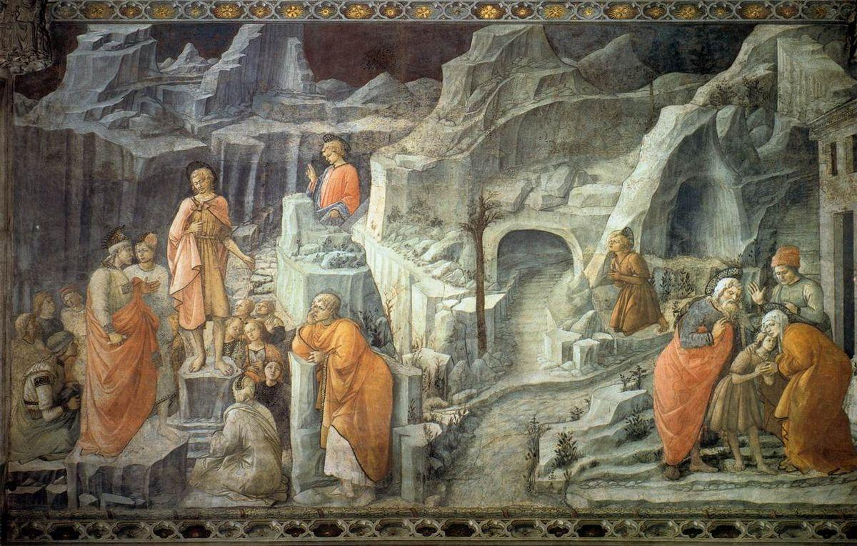 St. John Taking Leave of his Parents - Filippo Lippi