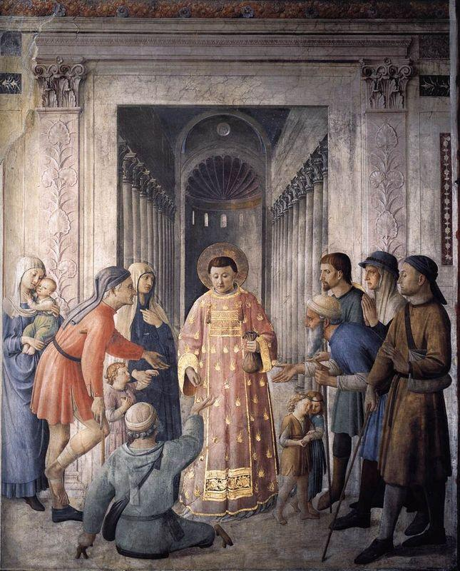 St. Lawrence giving alms - Fra Angelico