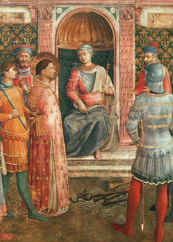 St. Lawrence on Trial  - Fra Angelico