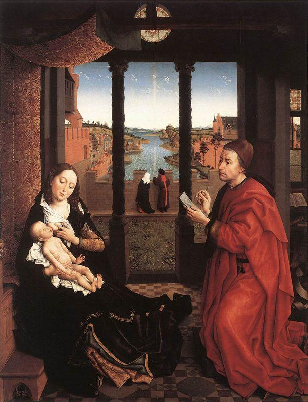 St. Luke Drawing a Portrait of the Virgin Mary - Rogier van der Weyden