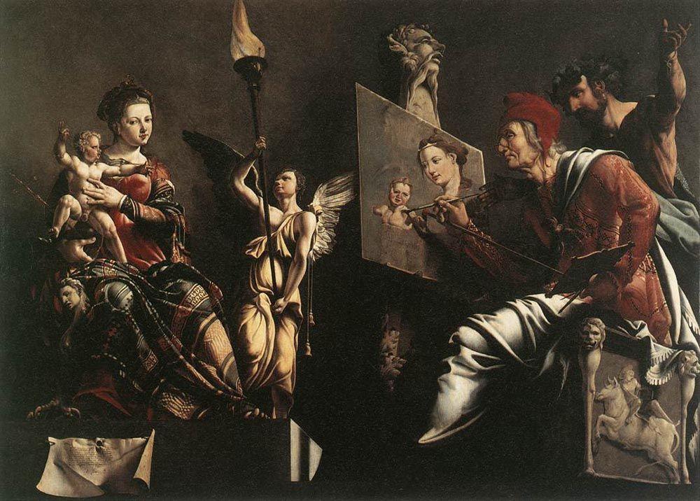 St Luke Painting the Virgin and Child - Maerten van Heemskerck