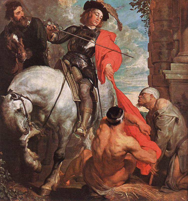 St Martin Dividing his Cloak - Anthony van Dyck