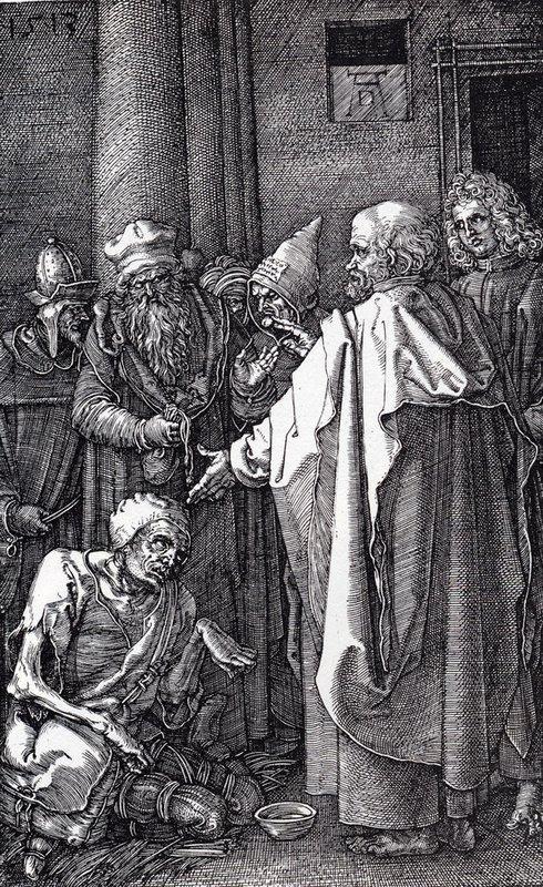 St. Peter And St. John Healing The Cripple - Albrecht Durer
