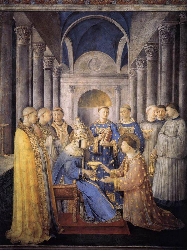 St. Peter Consacrates St. Lawrence as Deacon - Fra Angelico