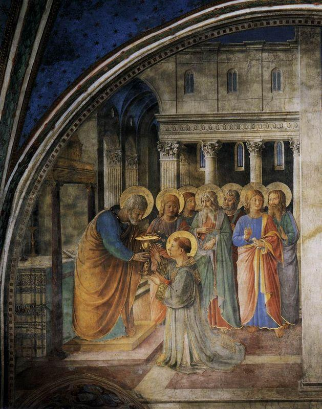 St. Peter Consacrates Stephen as Deacon - Fra Angelico