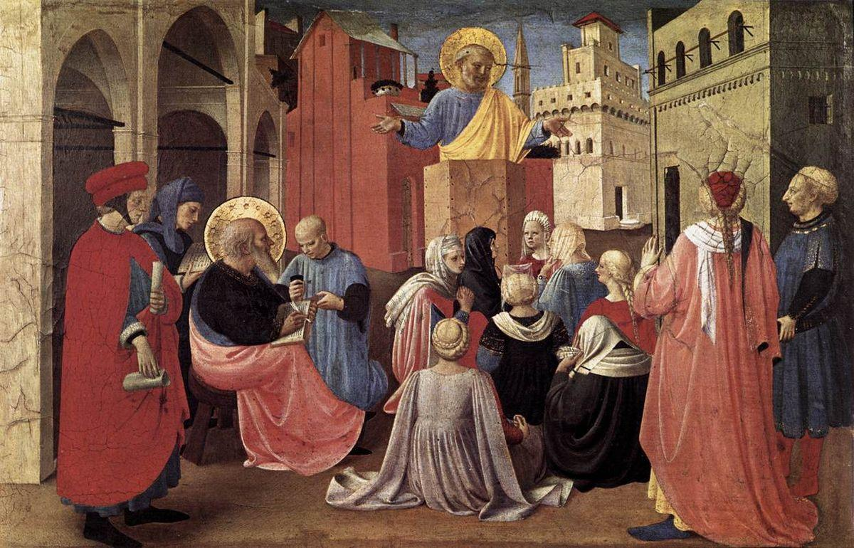 St. Peter Preaching in the Presence of St. Mark - Fra Angelico