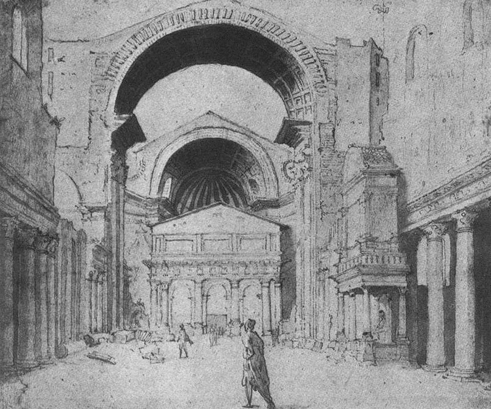 St Peter's Basilica seen from east - Maerten van Heemskerck