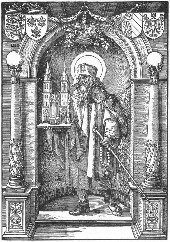 St Sebald in the Niche - Albrecht Durer