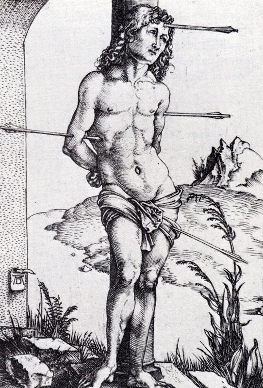 St. Sebastian At The Column - Albrecht Durer