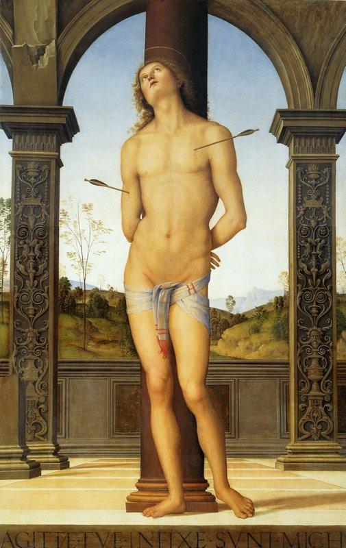 St. Sebastian tied to a Column - Pietro Perugino