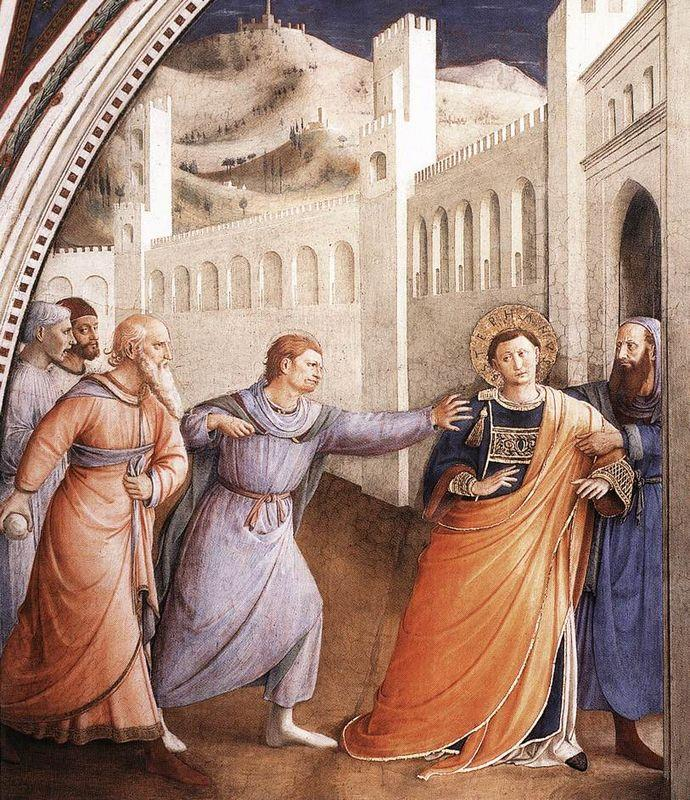 St. Stephen Being Led to his Martyrdom - Fra Angelico