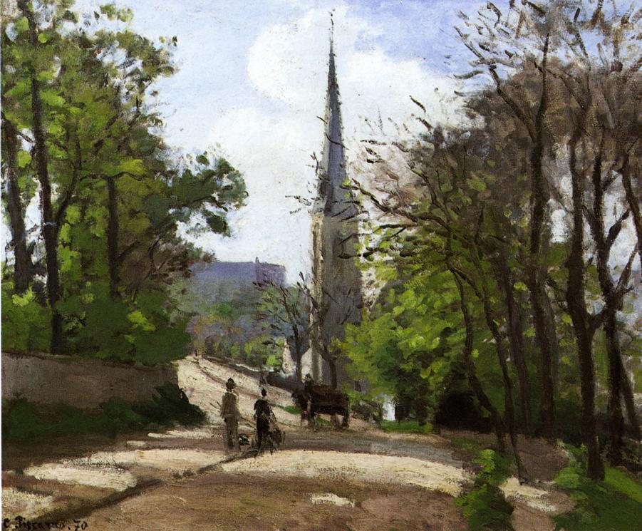 St. Stephen's Church, Lower Norwood - Camille Pissarro