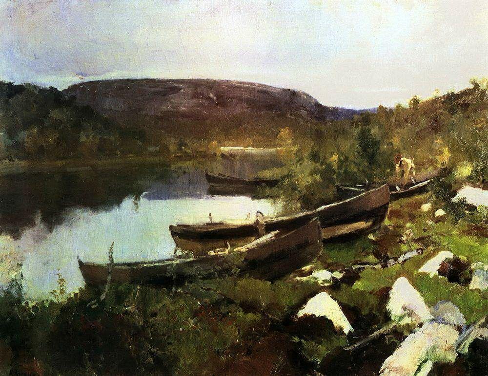 St. Triphon`s Brook in Pechenega - Konstantin Korovin