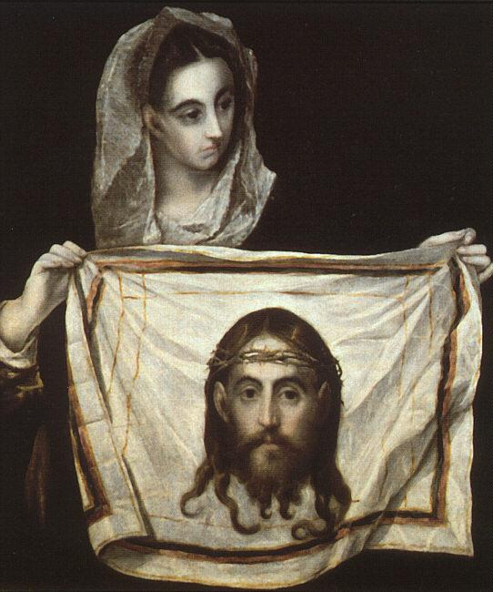 St. Veronica with the Holy Shroud - El Greco
