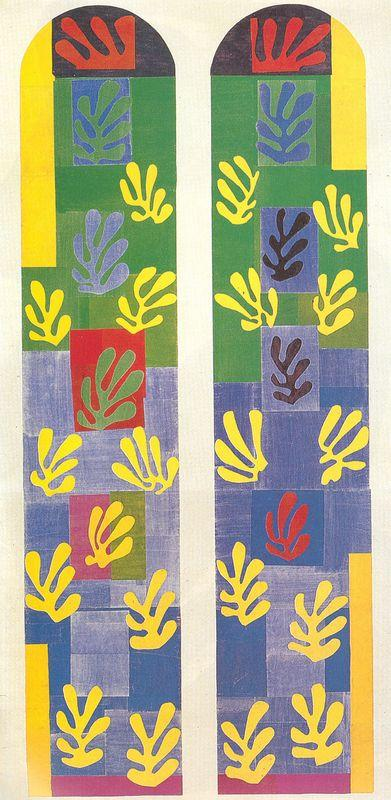 Stained Glass Window Window of the abside of the Rosary Chapel - Henri Matisse