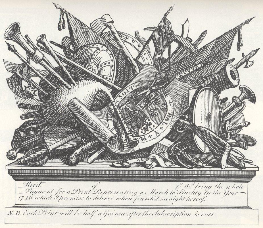 Stand of arms and instruments - William Hogarth