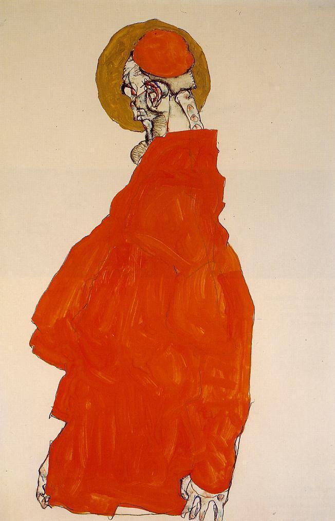 Standing Figure with Halo - Egon Schiele