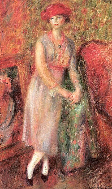 Standing girl with white spats - William James Glackens