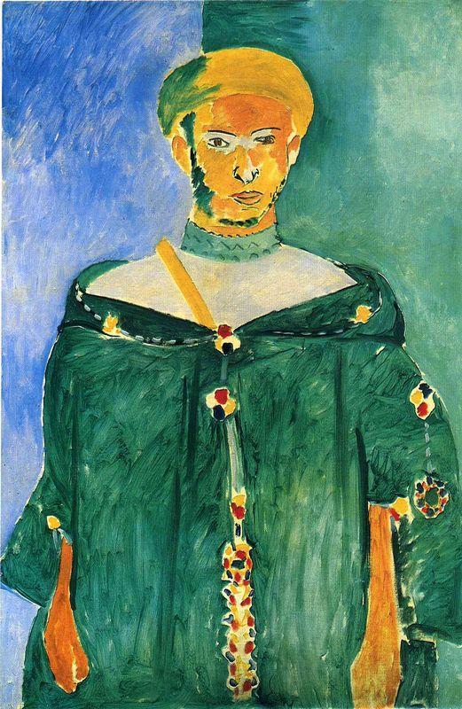 Standing Moroccan in Green (Standing Riffian)  - Henri Matisse