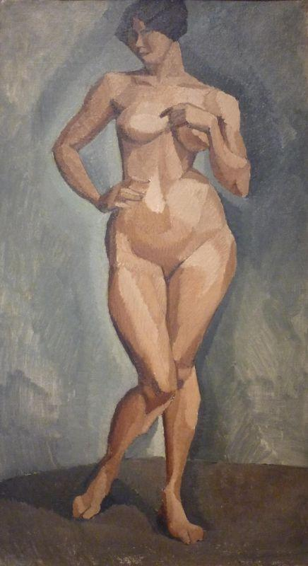 Standing nude from the front  - Roger de La Fresnaye