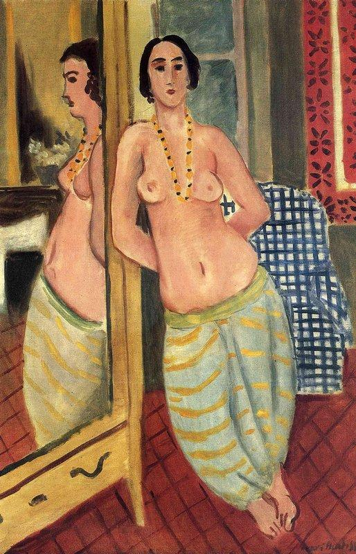 Standing Odalisque Reflected in a Mirror - Henri Matisse