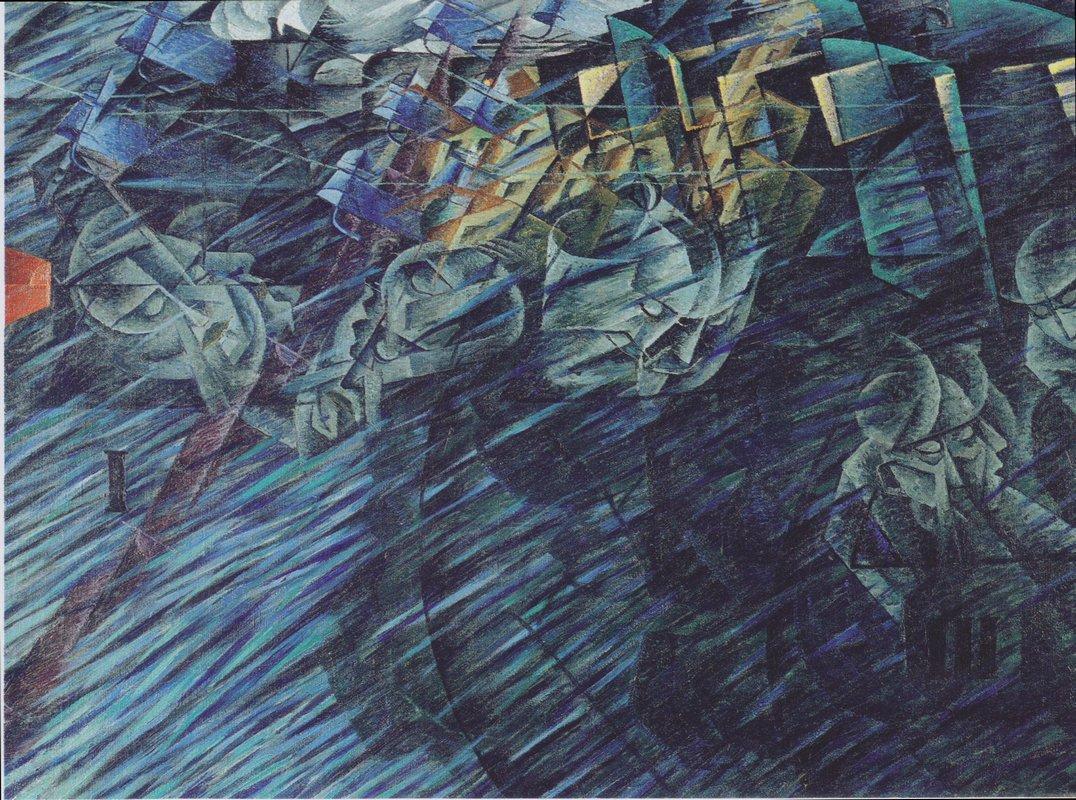 States of Mind: Those Who Go - Umberto Boccioni