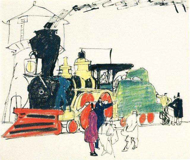 Steam Train  - Lyonel Feininger