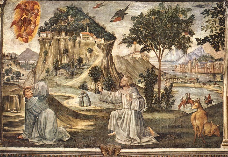 Stigmata of St. Francis - Domenico Ghirlandaio