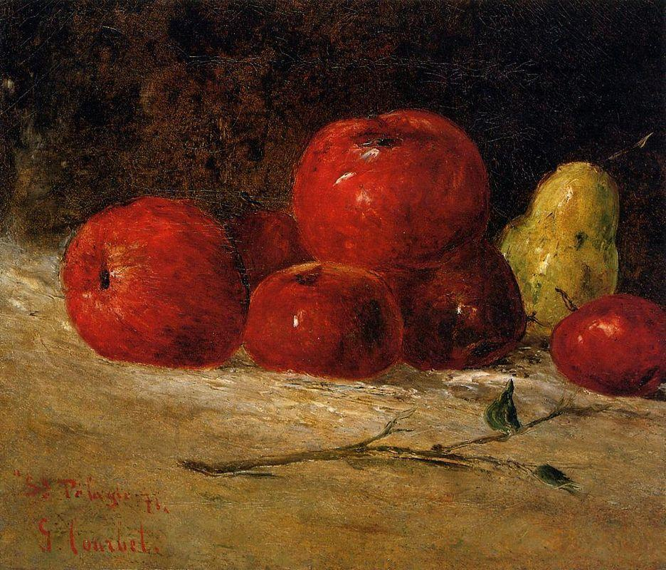 Still Life Apples and Pears - Gustave Courbet